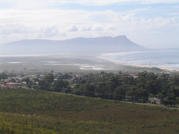 Looking back to Kleinmond
