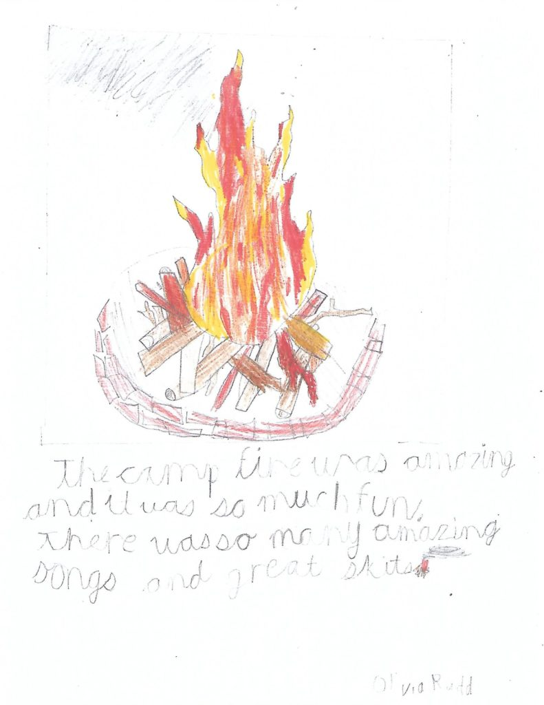 Olivia Drawing for Campfires
